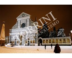Piazza Santa Maria Novella con neve