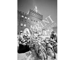 neve in Piazza Signoria