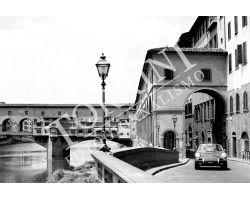 Ponte Vecchio con  Porsche bianco nero