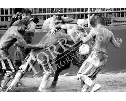 Calcio Storico Fiorentino bianco nero