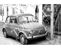 Auto Fiat 500 con antifurto