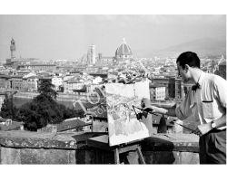 Pittore al Piazzale Michelangelo