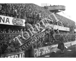 1955 0056 Fiorentina Bologna  54 55 nvasione di campo
