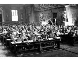 1955 03644 convegno civiltà cristiana in palazzo vecchio