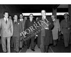 1953 0373 De Gasperi Alcide alla stazione