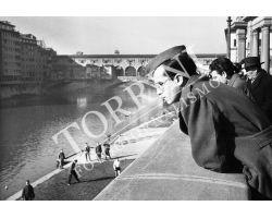 Foto storiche Firenze  militare  ponte Vecchio