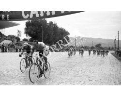 1957 L044 Giro d\'Italia tappa Siena Montecatini  Rik Van Steenbergen   ciclismo