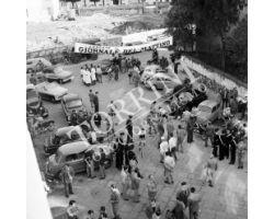 1958 05779 corsa  giornale del mattino palazzo imposte ruote ciclismo
