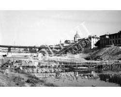 1955 04209 Foto storiche Firenze passerella Santa Rosa ponte Vespucci San Frediano
