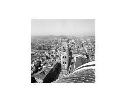 Foto storiche Firenze veduta  campanile di Giotto