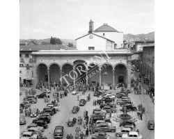 foto storiche firenze   piazza santissima annunziata
