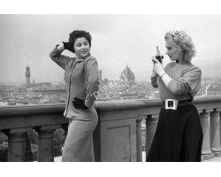 foto storiche firenze turiste al piazzale michelangelo