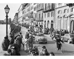 1957  1771 Foto storiche firenze Lungarno  vespucci