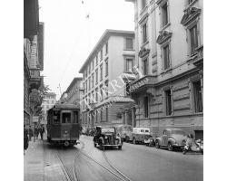 1957  9687   foto storiche Firenze ataf  tram via la pira