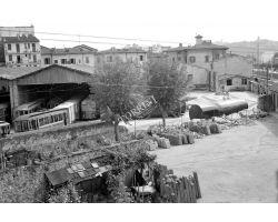 1957 05543 4 deposito ATAF piazza alberti tram