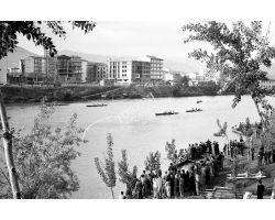 1957 04121 Canottieri in arno Lungarno Colombo Bellariva