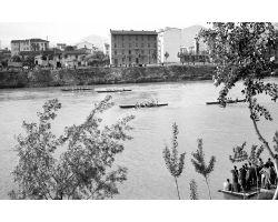 1957 04122 Canottieri in arno Lungarno Colombo Bellariva