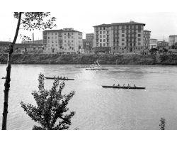 1957 04123 Canottieri in arno Lungarno Colombo Bellariva