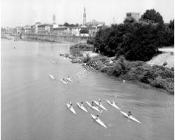 1964 06622 canottieri alla pescaia di san niccolò arno