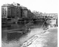 1973 15329 neve ponte vecchio canottieri arno