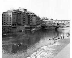 1973 15330 neve ponte vecchio canottieri arno