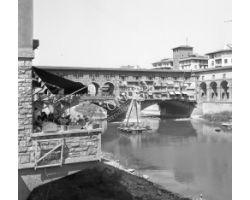 Foto storiche Firenze ponte vecchio