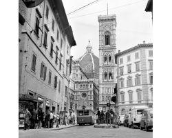Foto storiche Firenze via dei Pecori Duomo