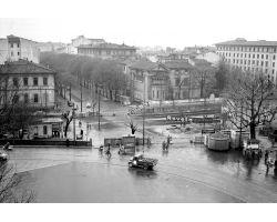 1958 03770  Foto storiche Firenze passaggio a livello  Piazza Cure