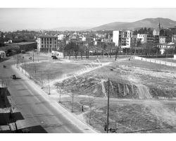 Foto storiche Firenze  Costruzione campo sportivo Padovani