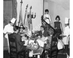 Foto storiche Firenze  ristorante Borromeo cuoco cucina