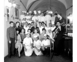 Foto storiche Firenze  gruppo ristorante giannino in san lorenzo
