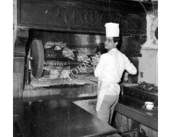 Foto storiche Firenze ristorante Giannino cuoco cucina