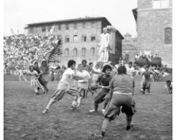 Foto storiche Firenze Calcio storico in piazza Signoria