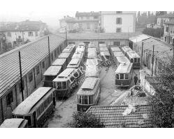 Foto storiche Firenze  deposito tram ATAF Campo di Marte