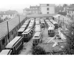 Foto storiche Firenze  deposito tram ATAF  via Gelsomino