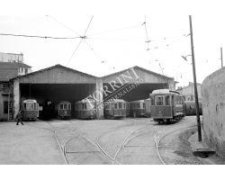 Foto storiche Firenze  deposito ATAF piazza alberti tram