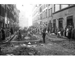 Foto storiche Firenze   cantiere lavori via panzani