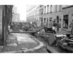 Foto storiche Firenze  via Panzani lavori cantiere