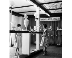Foto storiche Toscana 1960 08350 Volterra Mostra alabastro