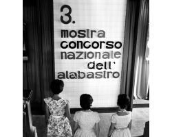 Foto storiche Toscana 1960 08348 Volterra Mostra alabastro