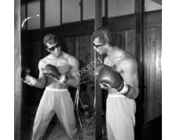 Rocky Roberts cantante in palestra