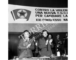 Enrico Berlinguer Massimo D\'Alema congresso FGCI