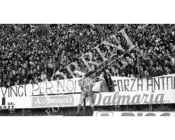 Fiorentina Genoa 81 82 Antognoni con tifosi