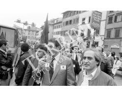 Luciano Lama in piazza Santa Croce per il comizio del 1° Maggio