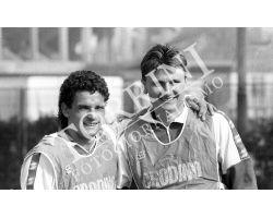Roberto Baggio e Lubos Kubik