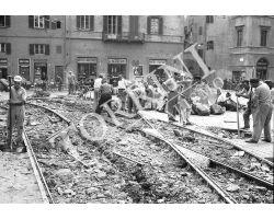 Rimozione rotaie tram ATAF dal Duomo lavoro