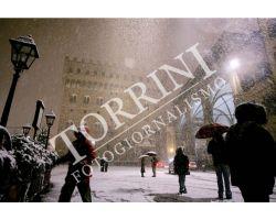 Neve in Piazza Signoria - colori