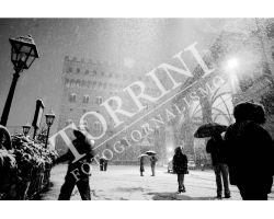 Neve in Piazza Signoria bn
