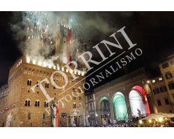 Piazza Signoria Anniversario 150 anni Unità Italia