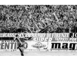 Calcio Fiorentina Juventus esultanza Antognoni